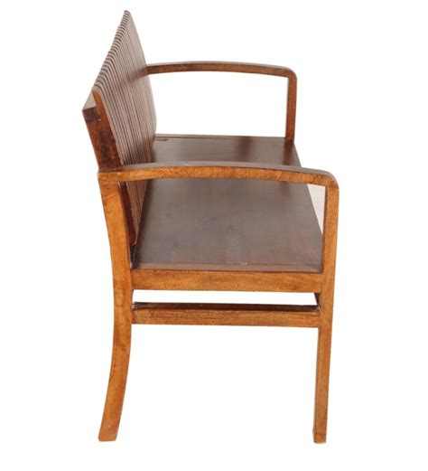 wooden settees cayenne slatted wooden settee by mudra online outdoor