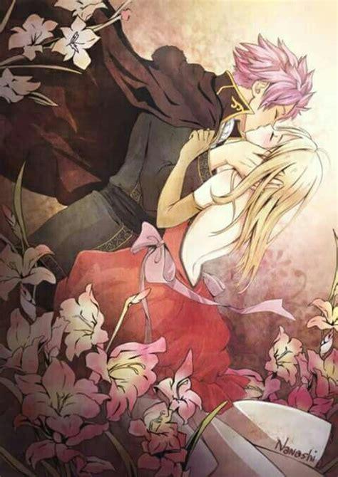 natsu and lucy sweet kiss anime pinterest sweet