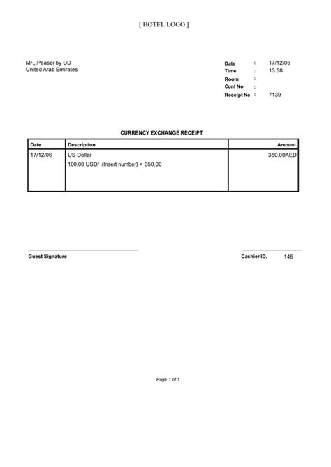 laravel 5 3 cashier customised receipt template hotel currency exchange receipt template in word and pdf