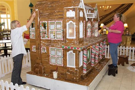 gingerbread commercial mall decorations gingerbread house takes up sweet spot at spa city hotel