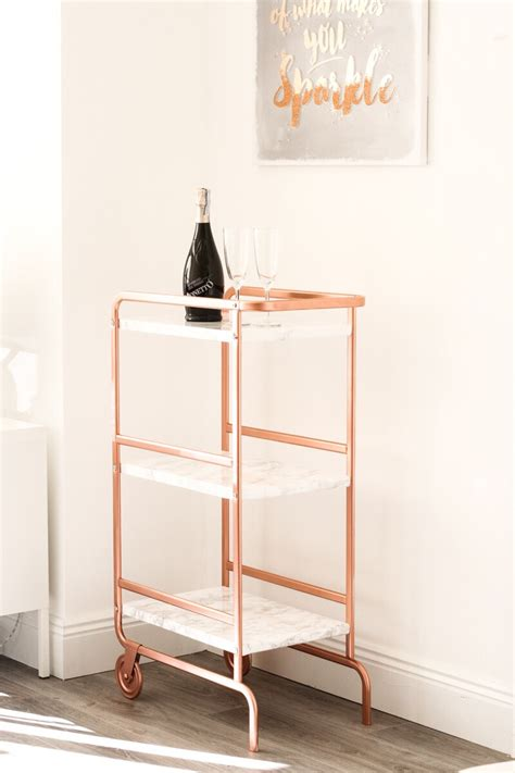 sunnersta ikea hack ikea sunnersta trolley diy hack bright copper and marble finish ikea shallow
