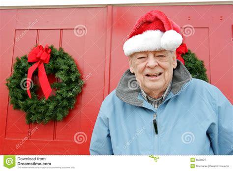 christmas elderly seniors santa royalty free stock photography image 6500327