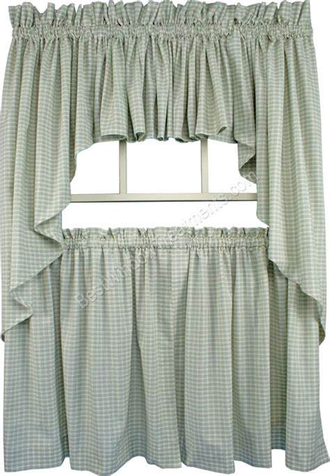 what is a tier curtain lincol plaid tailored tier curtain available in 3 color