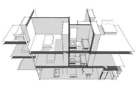 layout side view side view of house plans