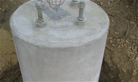 concrete light pole base standard 187 lindsay precast