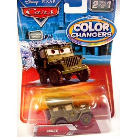 color changer disney cars sarge jeep color changer global