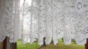 Cottage Lace Curtains Vintage Shabby Cottage Chic White Lace Curtain Valance 24 Quot X 142 Quot Ebay