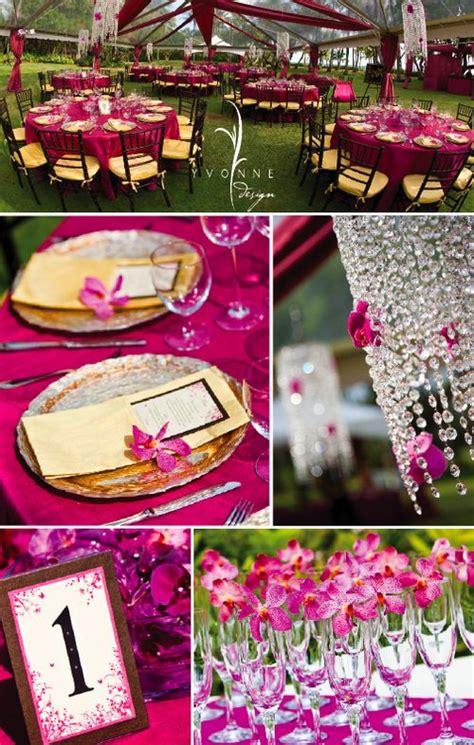 inspiration fuschia gold weddings planning project