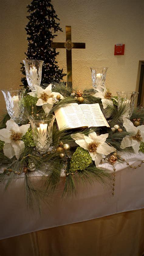 christmas decorating ideas for churches church altar decorations