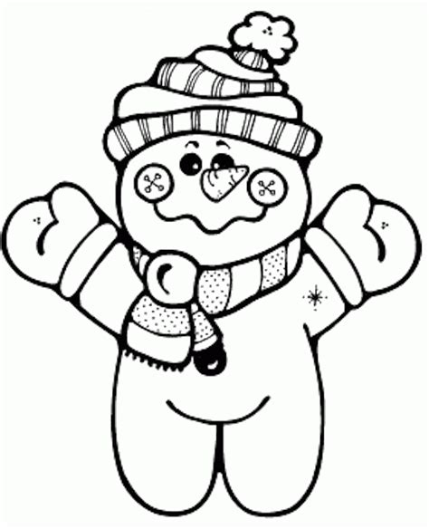 printable snowman coloring page coloring home
