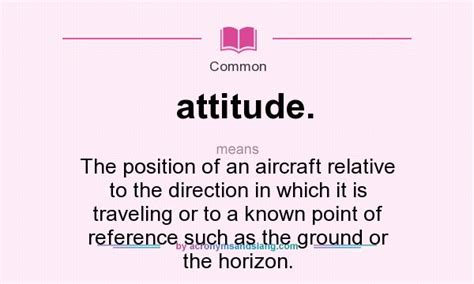what does attitude mean definition of attitude