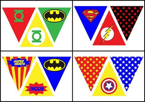 printable superhero banner superheroes free printable bunting oh my fiesta for geeks