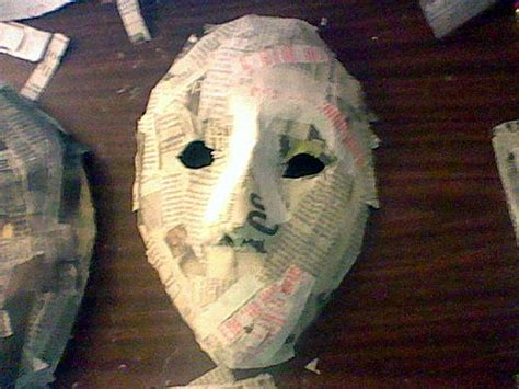 A Paper Mache Mask - sle of how to site pin 1 mask feature type simple