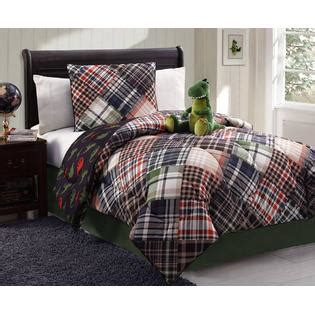 kmart comforters twin furry friends 3 piece dinosaur plaid comforter set