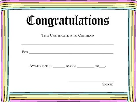 printable certificate template 5 new blank certificate awards blank certificates