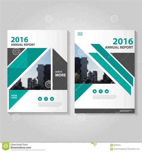template creation simple triangle and circle brochure flyer design layout