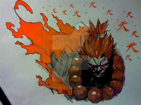 akuma tattoo akuma chest design by grool7777777 on deviantart