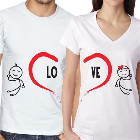 Matching Valentines Day Shirts For Couples Couples Matching S Day T Shirts Expressmytee