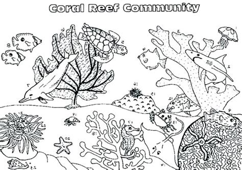 coral food coloring coral reef coloring page 2149381