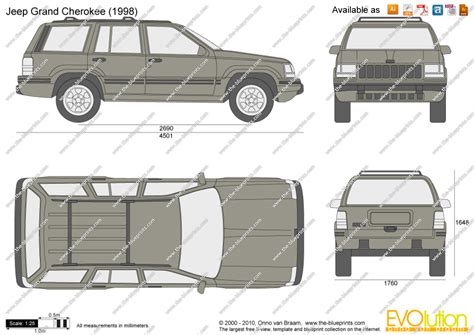 Length Of Jeep The Blueprints Vector Drawing Jeep Grand
