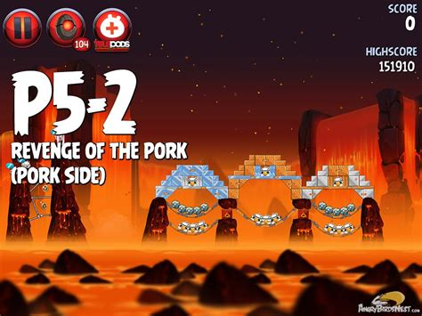 angry birds wars ii of the pork p5 15 angry birds wars 2 of the pork level p5 2