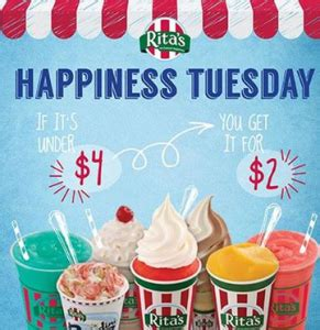 Ritas Gift Card - rita s italian ice tuesdays get up to 50 off gift card deal bargain believer