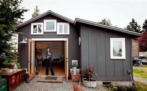 tiny house talk garage converted 250 sq ft garage converted into a livable space