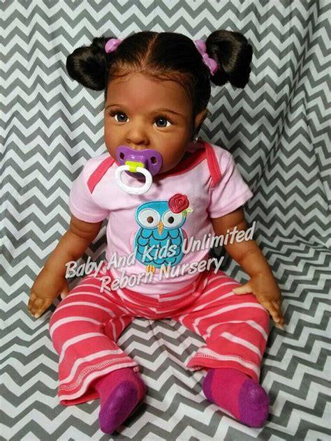 black doll kits aa reborn baby american biracial made to order
