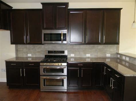 espresso kitchen cabinets with white granite espresso kitchen cabinets with white granite top counter