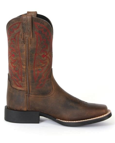 ariat 174 quickdraw distressed brown western boots