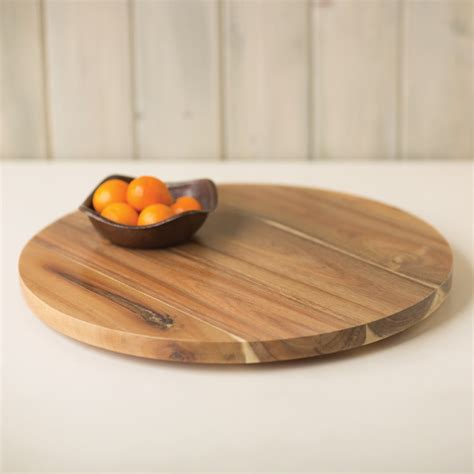 lazy susan acacia lazy susans 12 20 and 30 inch lsa12 trails