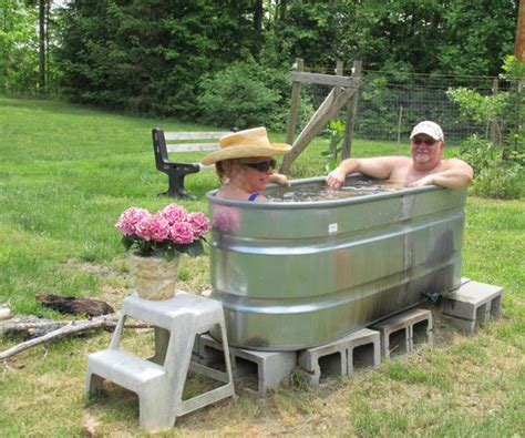 make your bathtub a jacuzzi make your own wood fired hot tub in a day for less than 100 projects pinterest