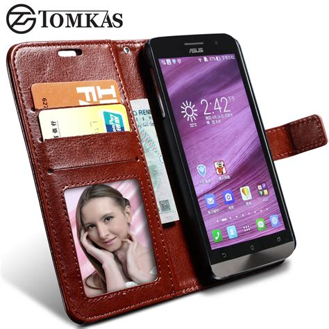Casing Leather Wallet Zenfone 5 Asus Dompet Lipat Tempat Kartu X leather for asus zenfone 6 vintage style flip wallet stand with photo frame leather cover