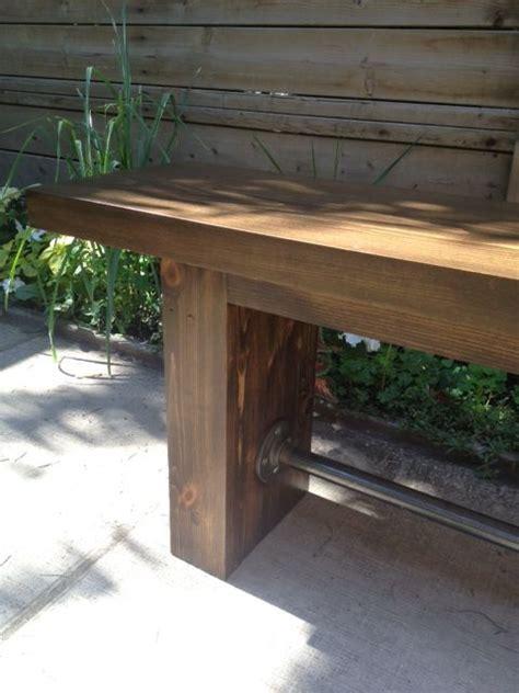diy industrial bench diy industrial modern pipe wood bench storefront life