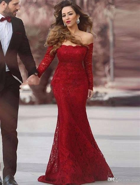 dark red boat neck dress vintage long sleeve party dress sexy off the by prom