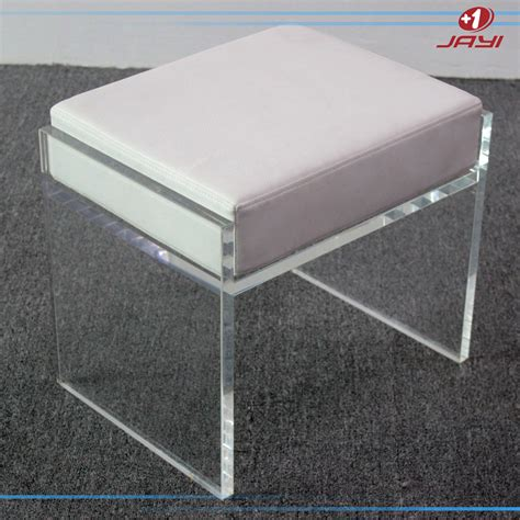Clear Acrylic Vanity Stool by China Supplier Clear Transparent Acrylic Bathroom Vanity