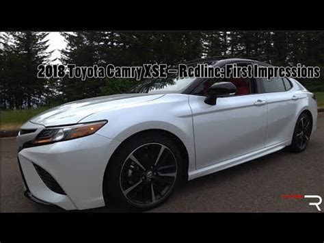 2018 toyota camry xse – redline: first impressions youtube