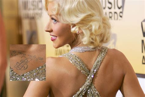 christina aguilera tattoos aguilera 50 tattoos stylebistro
