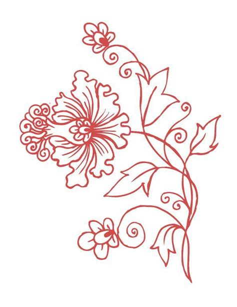 flower pattern embroidery fancy flower hand by redworkembroidery embroidery