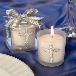 Favor Candles by Silver Cross Communion Candle Favors