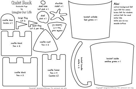 sandcastle quiet book page imagine our life
