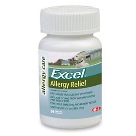 allergy relief for dogs excel allergy relief for dogs itching skin 36 antihistamine tabs 25mg ebay