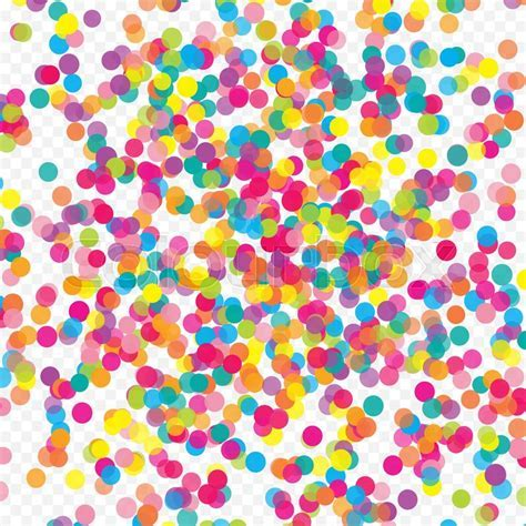Multicolored paper confetti. Realistic     Stock Vector
