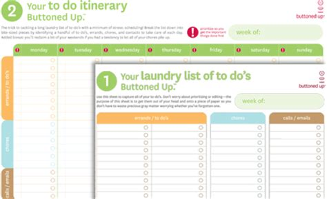 printable organizational tools free printable laundry list of to do s and to do itinerary