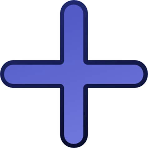 add a blue cross clip at clker vector clip
