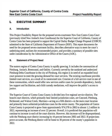 feasibility report template free sle feasibility report project feasibility report