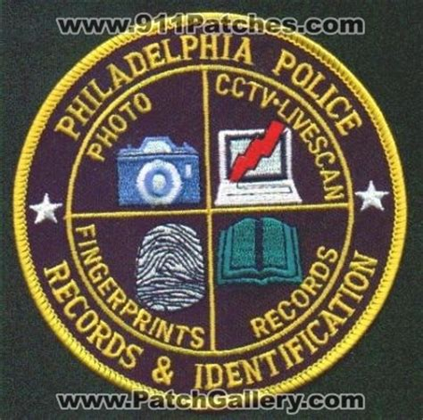 Philadelphia Arrest Records Pennsylvania Philadelphia Records Identification Patchgallery