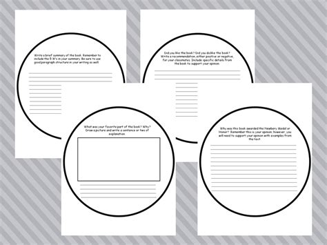 newbery book report template worksheets frudgereport954