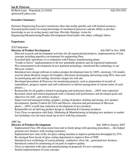 dynamic engineering executive sle resume introduction