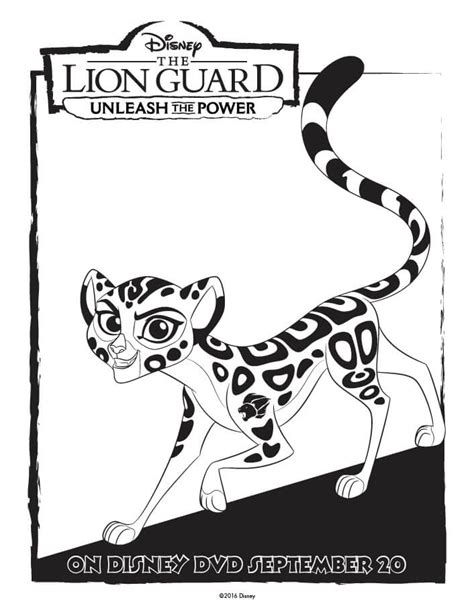 lion king guard coloring pages unleash the power with these great the lion guard coloring